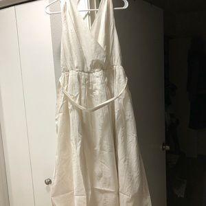 Modcloth Metallic Midi Dress